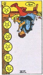 8 of pentacles reverse